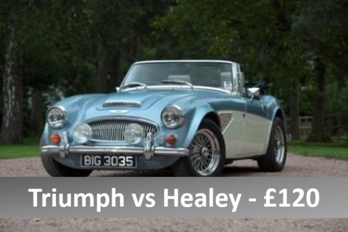 Two car classic car driving experience in Triumph TR6 and HMC