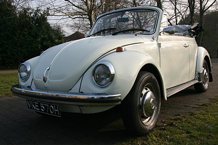 Great Escape Classic Car Hire VW Beetle convertible for self drive rental in Devon