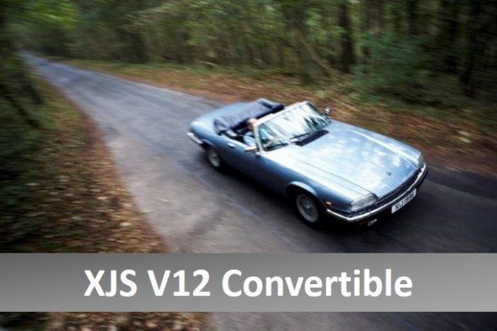 Jaguar XJS V12 convertible for hire in the Cotswolds