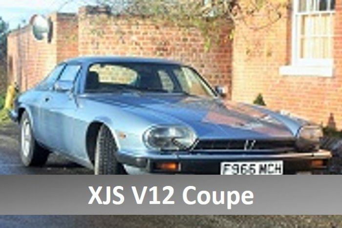 Jaguar XJS V12 coupe for hire in the Cotswolds